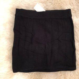 H&M Black sweater mini skirt M